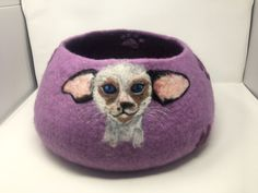 Felted cave for cats