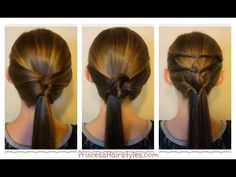 3 Quick and Easy Ponytails! Back-To-School Hairstyles ~ This is for you Aleigh...luv u tons!!! Nana