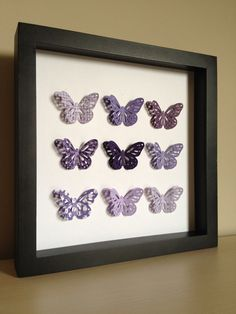 Purple Butterfly, 3D Paper Art - perfect for a new baby or little girl's room