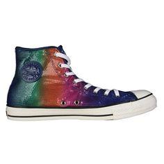 Rainbow sequins Chucks #converse #chucktaylor #hightops