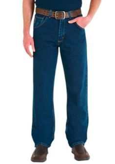 Wrangler Dark Denim Stonewashed  ular Fit Jeans