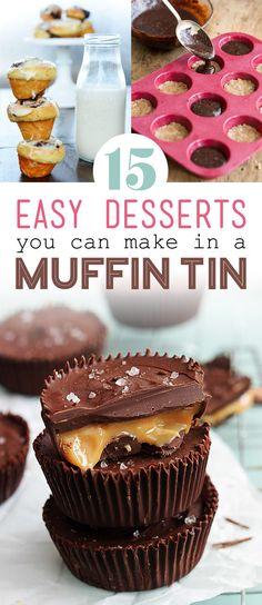 15 bite-size desserts to bake this month sweet tooth кексы, Brownie Desserts, Oreo Dessert, Mini Desserts, Bite Size Desserts, Easy Desserts, Dessert Recipes, Bite Size Snacks, Italian Desserts, Plated Desserts