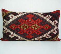 Sukan / Hand Woven - Turkish Kilim Pillow Cover - 16x16
