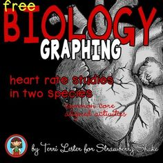 Free Biology GRAPHING Practice: HEART RATE STUDIES in Two Species