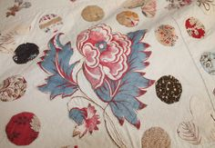 Large Antique Applique Hand Made Bedspread, Throw or Quilt.