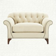 View the Preston Chair from Arhaus. An oversized chair perfect for a small room and begging for someone to curl up and read in it.