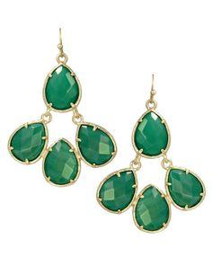 Courtney Earrings in Green - Kendra Scott Jewelry