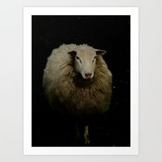 sheep Sheep Art, Lonely, Goats, Art Prints, Animals, Art Impressions, Animaux, Fine Art Prints, Animales