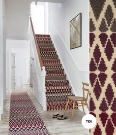 Padding around bare footed at home doesn't sound too appealing now that the weather has started to turn that bit cooler thanks to the arrival of Autumn, does it? Yet there's something about arriving home, kicking off your shoes and relaxing at home with scented candles burning and generally ... #stairs #hallway