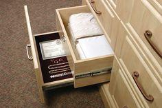 Hidden document drawer or hidden gun drawer Hidden Jewelry Storage, Hidden Gun Storage, Hidden Shelf, Jewelry Drawer, Secret Storage, Jewellery Storage, Glass Jewelry, Jewelry Box, Kitchen Storage Hacks