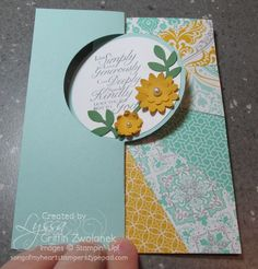 SU Circle Card Thinlit, Trust God, Boho Blossoms punch, Bird Builder punch *photo only (10/07/2013)