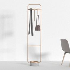 Hanger is a minimal clothes stand designed by Chinese studio Neri & Hu