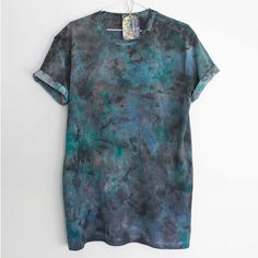 TWILIGHT. Almost COMO. Dark Mens / Unisex Hand Dyed T by Smukie