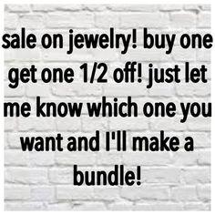 Jewelry saleeeee ❗️❗️❗️ Buy one get one 1/2 half!! Jewelry Necklaces
