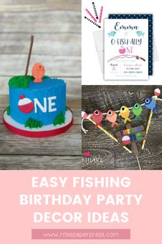 The best ideas for an O-Fish-Ally One Fishing 1st Birthday Party. Featuring invitations, cake, cookies, banners, decorations, thank you cards, and more. Boy fishing birthday or girl fishing birthday. 1st Birthday Party Decorations, Kids Birthday Themes, Party Themes For Boys, Birthday Invitations Kids, First Birthday Parties, Boy Birthday, Birthday Stuff, Birthday Cake, Fishing Gifts