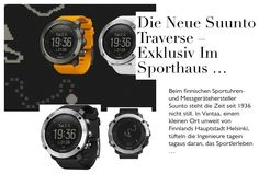 Die neue Suunto Traverse – exklusiv im Sporthaus Schuster!