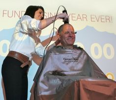 Great Clips Shaves Nonprofit's CEO's Head for Reaching Fundraising Goal
