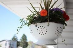 Neat plant pot idea - great drainage :))
