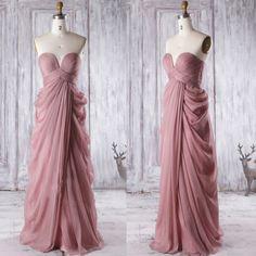 Unique Quartz Bridesmaid Dresses, Sweetheart Bridesmaid Gowns with