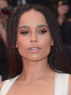 Celebrity Beauty Looks of 2015 - Zoe Kravitz's dotted eyeliner at the Cannes Film Festival in France | allure.com