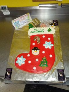 Giant stocking cookie For Stockings For A Cause
