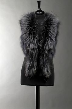 Florentina Fur Gilet Grey only 3 left sale now 20% off Limited Availability