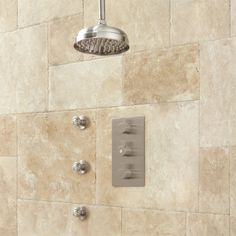 Isola Thermostatic Shower System with Rainfall Shower - 3 Body Jets - Shower Systems - Shower - Bathroom