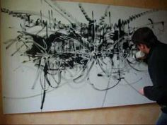 ▶ Abstract Art Action Painting Dripping IDYLLIC DISASTER by Lepolsk Matuszewski - Fine art - YouTube
