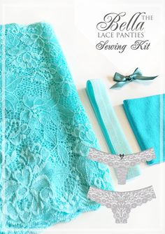 Bella Lace Panties Sewing Kit  PATTERN INCLUDED  by EvielaLuveDIY