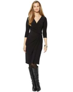 American Living Long-Sleeve Rhinestone-Detail Dress