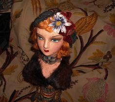 Boudoir Doll Hat Stand Display by MichelleReneeArt on Etsy, $129.00