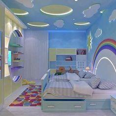 Children's room ceiling decoration Cool Kids Bedrooms, Kids Bedroom Designs, Baby Room Design, Bed Design, Kids Rooms, Childrens Bedroom Decor, Teen Room Decor, Home Decor Bedroom, House Ceiling Design