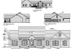 Elegant round columns 'dress up' this 3 bedroom, 3 bath, southern country porch design. Its classic irresistible styling makes it perfect for almost any neighborhood. Colonial Style Homes, Cottage Style Homes, Building A Porch, Building Plans, Porch Kits, Home Improvement Loans, Country Style House Plans, Ranch House Plans, House With Porch