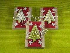 stampin up anleitung weihnachten | Es ist eine super süße Verpackung für 2 kleine Merci Riegel. Hier ...