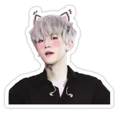 'Cute Baekhyun Sticker by liliidaes Exo Stickers, Tumblr Stickers, Printable Stickers, Cute Stickers, Florist Logo, Journal Stickers, Floral Border, Aesthetic Stickers, Kpop Fanart