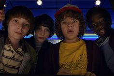 How Netflix's 'Stranger Things' Goes Back to the '80s | For Netflix's period series, 'Stranger Things,' the production team found plenty of vintage tchotchkes but had to keep the 'awesome and bizarrely '80s' touches in check. (From left: Noah Schnapp, Finn Wolfhard, Gaten Matarazzo, Caleb McLaughlin play middle-schoolers during the 1980s.)
