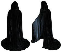 Lined Black Velvet Cloak - Medieval Renaissance Costume by Artemisia Designs by Artemisia Designs | $60