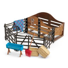 The Stable and Supplies are a My American Girl accessory set released in 2011. Retail cost is $110.