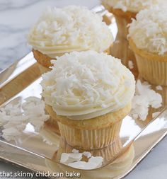 Yummy coconut cupcakes!