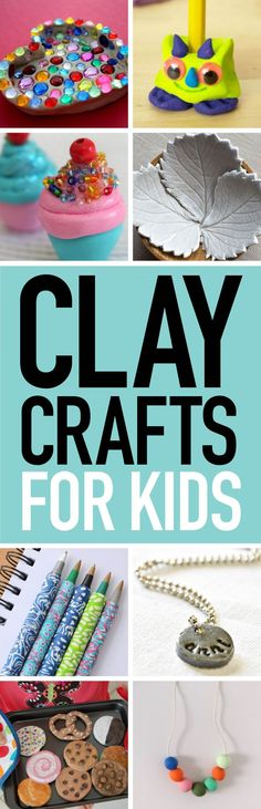 What kid can resist the urge to play with squishy clay? Give in to the temptation and create these awesome clay crafts. #crafts #kidscrafts #claycrafts