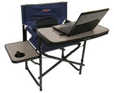 "The Deluxe RV Folding Camping Chair; folds up compact so a great idea for when you want to take your ""office"" outside the RV......."