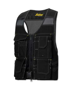 Snickers® 4192 DuraTwill™ flexi tool vest for construction and maintenance roles. Velcro fasteners for easy removal and polyester mesh fabric for ventilation. Wide straps spread heavy loads and adjustable belt lifts pressure from shoulders. Features flexible attachable holster pockets.
