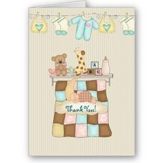 Baby Quilt Thank You, with Verse Cards by TheBabyShoppe