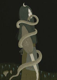 Serpent Woman Art by Alexandra Dvornikova