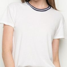 NWT brandy Melville inspired adalyn top new with tags! no flaws. this is not brandy, but is very similar to the adalyn top. still adorable!  price negotiable, bundle to save Brandy Melville Tops Tees - Short Sleeve
