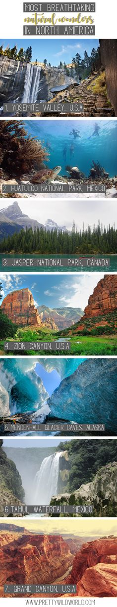 Breathtaking natural wonders in North America | north america travel | wildlife | north america national parks | north america bucket lists | road trips | travel north america destinations #traveldestinationsusa