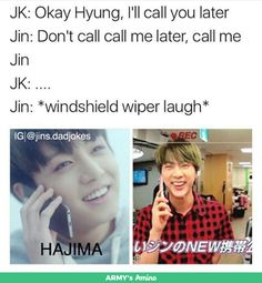 Jin's Dad Jokes ~Credit to owner