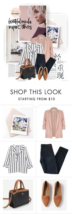 """""""Beautiful Minds"""" by color-me-red ❤ liked on Polyvore featuring River Island, MANGO, Levi's, Everlane, Butter London and CÉLINE"""