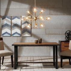 Sputnik Chandelier, Chandelier Lighting, Chandeliers, Kitchen Chandelier, Chandelier In Living Room, Pendant Lamp, Gold Pendant, Retro Lighting, Home Lighting