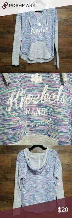 Knoebels Hooded Sweatshirt Thin.  Worn once for a few hours.    Glitter lettering. Tops Sweatshirts & Hoodies